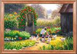Рисунок на ткани МАГИЯ КАНВЫ арт.КС012 Детские игры 39х27 см