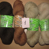 Набор №1  из пряжи Klippan Saule, Новозеландская 100% шерсть, коричнево-бежевые оттенки,  400 гр (в наличии 1 набор)