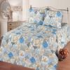 КПБ Лоскутная мозаика (голубой) бязь