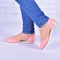 Женские кожаные туфли с ремешком
