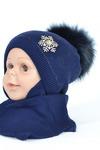 Детский комплект для девочек, 4-10 года (48-52) см обхват головы