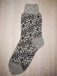 Мужские шерстяные носки круговой вязки с рисунком(узорчик)