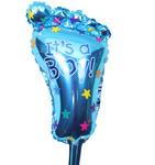 Фольгированный воздушный шар Ножка (голубой)