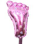 Фольгированный воздушный шар Ножка (розовый)