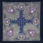 """Платок шерстяной с шелковой бахромой """"Лесное чудо"""", вид 14, 89x89 см Рисунок 845-14"""