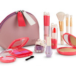 Litti Pritti Pretend Makeup For Girls Set - 11 Piece Cosmetic Play Makeup Kit - PU Leather Case