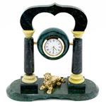 """Часы """"Лев"""" камень змеевик"""