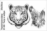01-60 Термотрансфер Тигр и зебра 25х35см