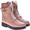 Женские кожаные ботинки на шнуровке (байка/экомех/цигейка - на выбор)