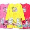 Трикотажное платье для девочки, артикул 3038