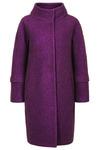 Пальто о-образного силуэта с отстегивающимся рукавами, фиолетовый меланж