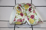 НАБОР Чайный 4пр на подставке Розы 7821-4