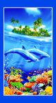 Пляжное полотенце (банное) Дельфины