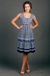Платье-сарафан ярусный короткий