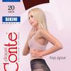 """Колготки женские """"Conte BIKINI"""" 20 den, р.3, черный"""