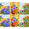 Набор вафельных полотенец Цветник (3 шт)