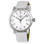 Tissot T055.410.16.017.00 Men's PRC 200 White Genuine Leather and Dial SS