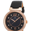 Cabochon CABOCHON-16561-RG-01 Saga Black Genuine Leather and Mother of Pearl Dial