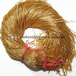 EmbroideryMaterial French Bullion Wire(Nakshi), Dark Gold Color, 1MM, 50.29 Mtr(100 Gram)