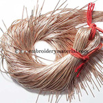 EmbroideryMaterial French Wire for Beading(Dabka), Rose Golden Color, 1MM, 45.72 Mtr(100 Gram)