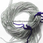 EmbroideryMaterial French Bullion Wire(Nakshi), Silver Color, 1MM, 50.29 Mtr(100 Gram)