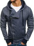 Толстовка мужская с капюшоном темно-синяя Denley A83