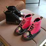 Ботинки с принтом на девочку