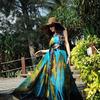 Женское платье- парео павлин, большие размеры