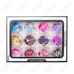 Камифубики для дизайна ногтей Nail Art  Количество 12 шт. Цвет Лето Цветные 9441