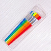 Набор кистей 5шт. нейлон Foska A-5 цв. пласт. ручки европодвес