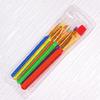 Набор кистей 6шт. нейлон Foska A-6 цв. пласт. ручки европодвес