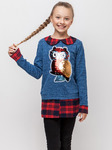 """Рубашка для девочки """"Совушка"""". Распродажа!!!"""