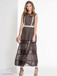Платье ELENA FEDEL EF-1104/коричневый,  S (42-44)