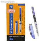 Ручка шариковая Flair Writo-Meter узел 0,5мм, (пишет 10 км) масляная основа, синяя, F-743