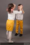 Брюки для мальчика и юбка для девочки М-214
