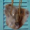 Сумочка из меха лисы