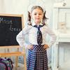 Школьный комплект для девочки юбка+галстук М-242