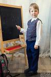 Костюм-двойка школьный для мальчика: жилет+брюки М-245