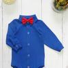 Боди-рубашка, синий (р-ры 56-80)