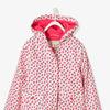 Девочек-флисовая куртка - красный свет на всем напечатанный