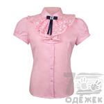 175S-1 Блузка для девочки с коротким рукавом, р. 116 - 140. СКИДКА!