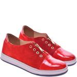Подростковые комбинированные туфли на танкетке