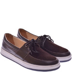 Подростковые комбинированные туфли на шнуровке