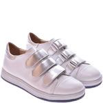 Подростковые кожаные туфли на липучках
