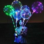 Светящийся воздушный шарик LED на палочке