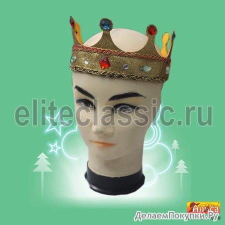 """Корона """"Королева"""" золотая"""