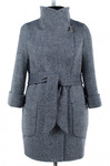 Пальто женское демисезонное (пояс) твид