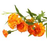 """Букет """"Гвоздика"""" 70см, цветки из ткани, оранжевый"""