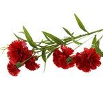 """Букет """"Гвоздика"""" 70см, цветки из ткани, красный"""