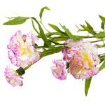 """Букет """"Гвоздика"""" 70см, цветки из ткани, бело-сиреневый"""